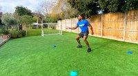 Born Barikor catching a tennis ball for his Wimbeldon Workout