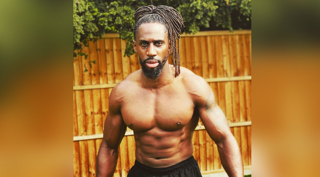 Born Barikor showing his muscular physique for his Wimbeldon Workout