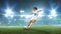 Carli Lloyd shooting a soccer ball and penalty kick with
