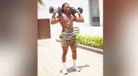 Josh Webb Full Body Dumbbell HIIT Workout Overhead Dumbbell Press