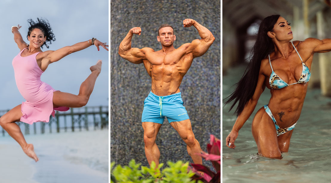 2021 Puerto Rico Pro Winners posing on the beach and in paradise