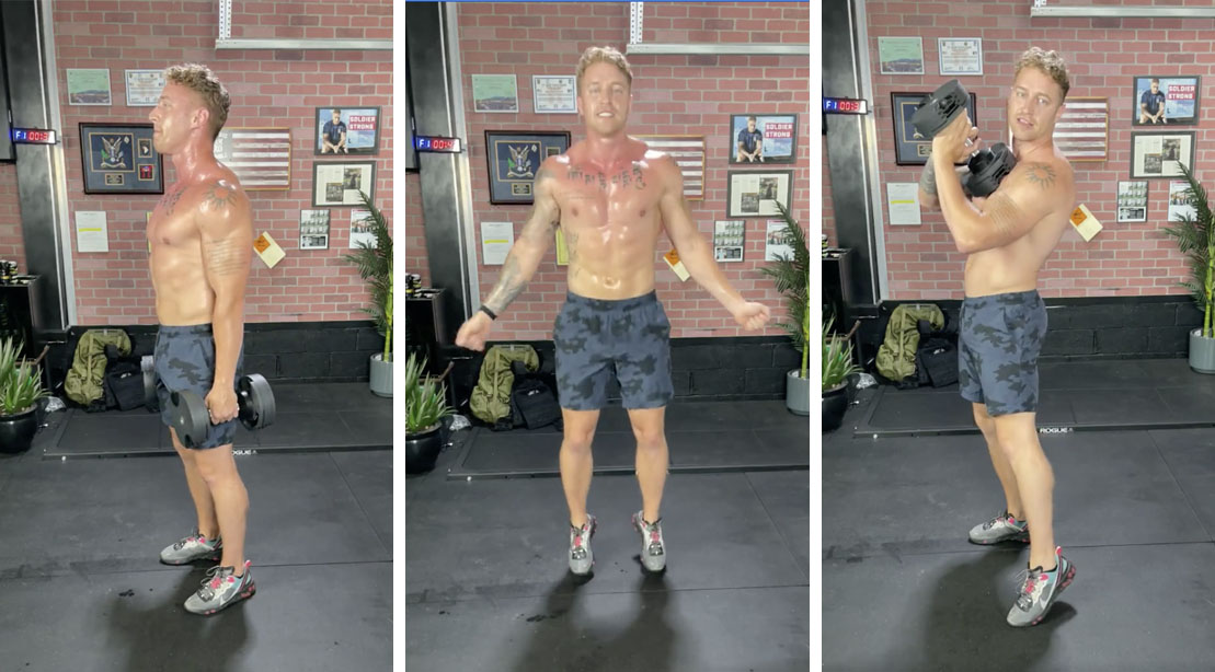 Erik Bartell's Exercising with his Lower Body HIIT Workout