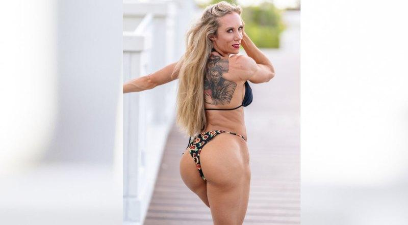 Female Bodybuilder and 2021 Puerto Rico Pro Wellness Division winner Casey DeLong