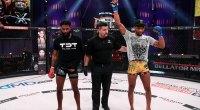 MMA Fighter AJ McKee fighting and winning a Bellator Match