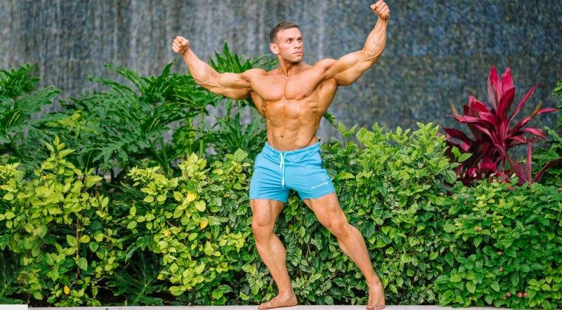 Male Bodybuilder and 2021 Puerto Rico 212 Division Winner Piotr Borecki
