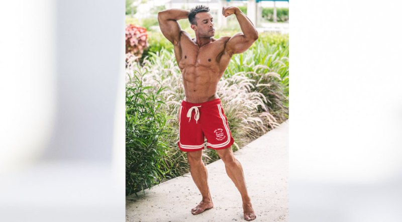Male bodybuilder and winner of the 2021 Puerto Rico Pro Men's Physique Division, Diago Montenegro