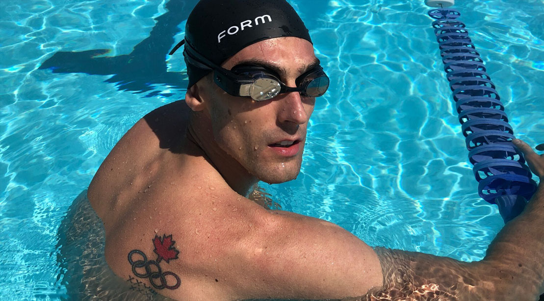 Olympic swimmer Scott Dickens in the pool