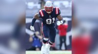 The New England Patriots defensive end Deatrich Wise playing football for the NFL