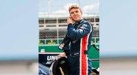 Car racing superstar Phil Hanson preparing for a race