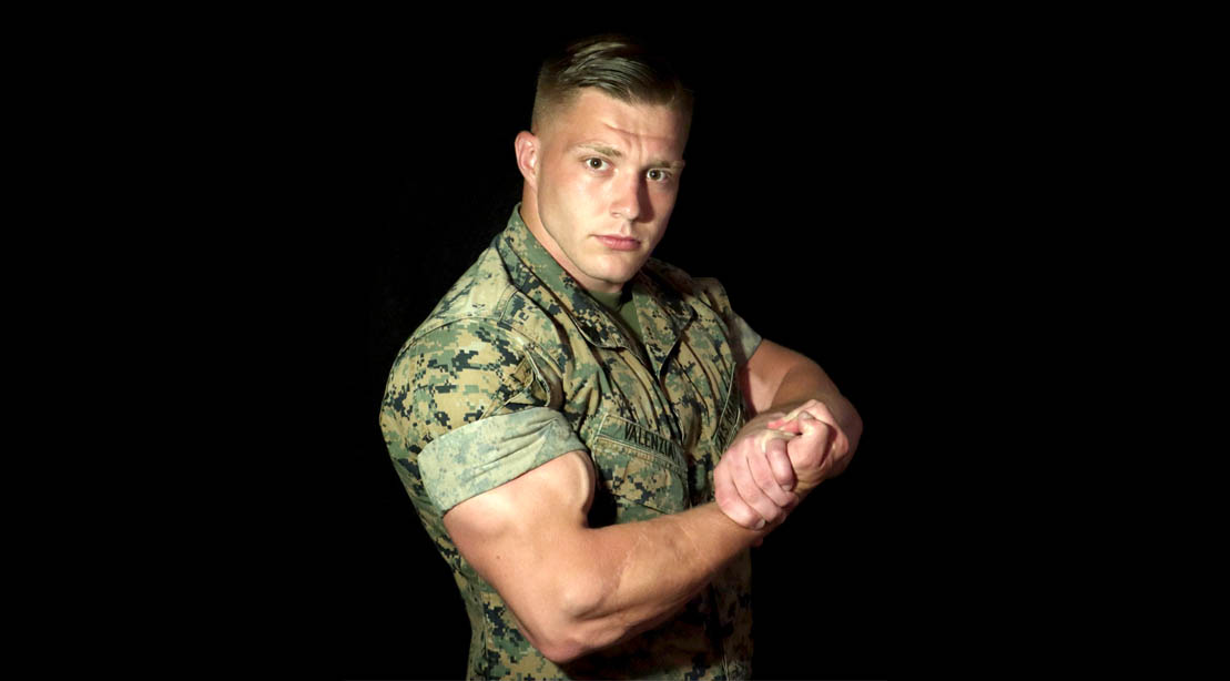 Corporal Tyler Valenzia's Bulging Biceps Arm Workout for Military Monday