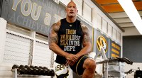 Dwayne The Rock Johnson wearing under armour merchandise for his Project Rock Football Pack partnership