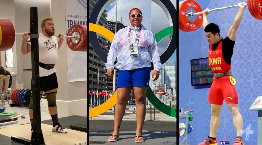 Olympic Powerlifter and Tokyo Olympic Games Medal Winners Shi Zhiyong Emily Campbell Wes Kitts