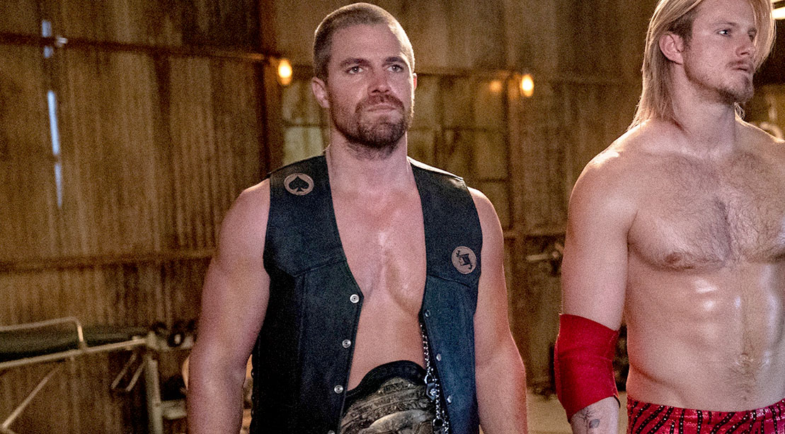 WB Arrow Actor Stephen Amell Playing his role of a wrestler Jack Spade on Starz's Heels