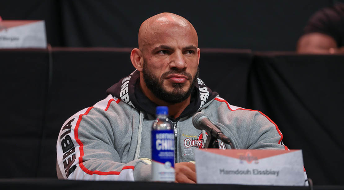 Bodybuilder Big Ramy at a press conference at Olympia 2020