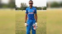 Harinder Sekhon in his cricket uniform on the field