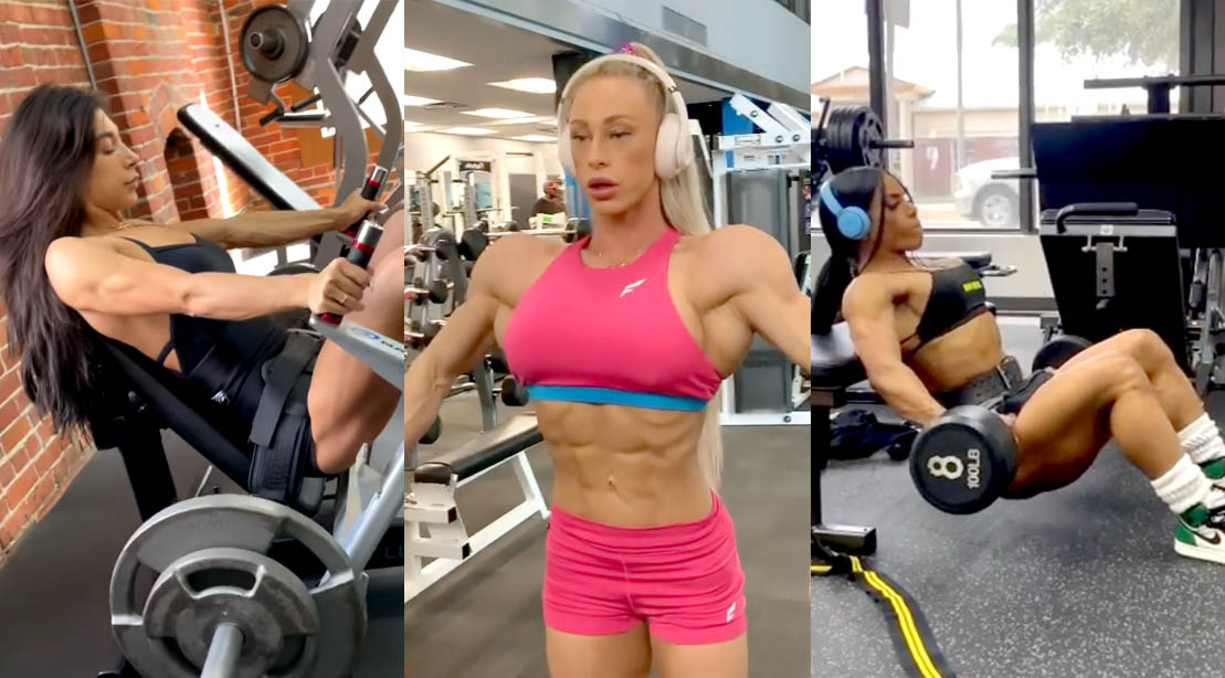 The 2021 Ms. Olympia competitors training for the 2021 Ms. Olympia competition