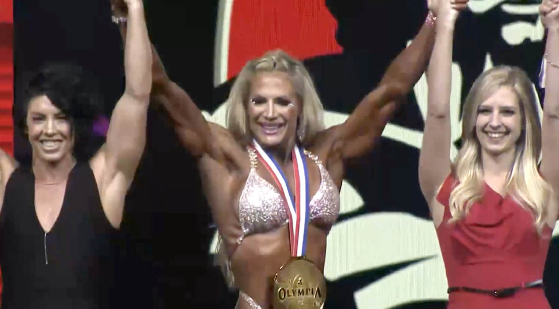 2021 Olympia Winner and Competitor Whitney Jones at the 2021 Olympia competition
