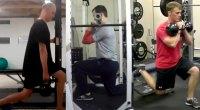 3 different split squat variations