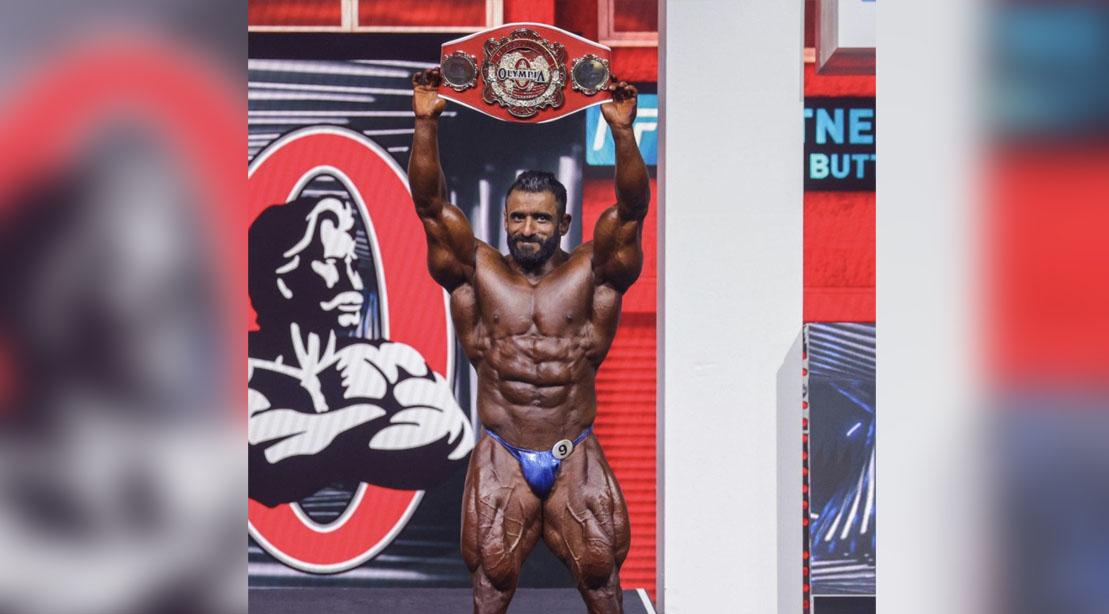 Hadi Choopan winning The people choice at Olympia 2021
