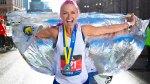 iFit trainer Ahsley Paulsen finishing her city marathon race